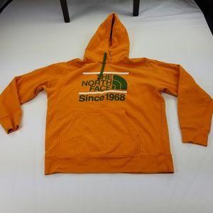 North Face 2XL XXL Sweater Hoodie Orange Green4085